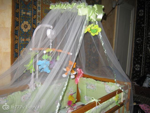 Занавески на детскую кроватку своими руками 27